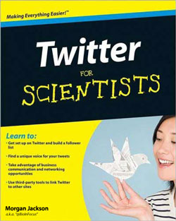 Spoof cover of book Twitter for Scientists