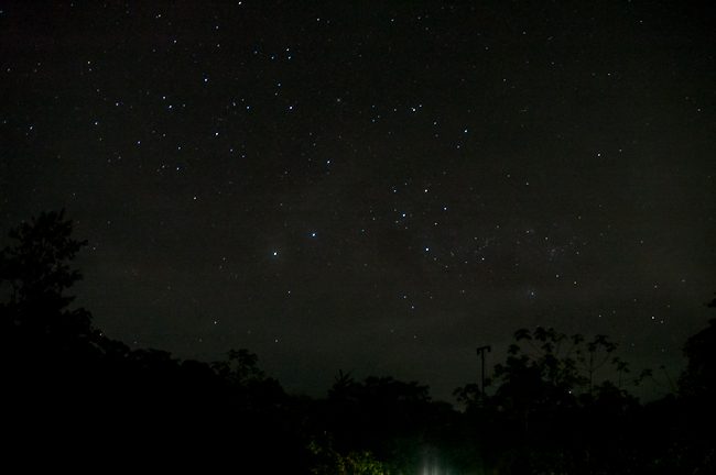Southern Cross & Musca over Ecuador stars constellation
