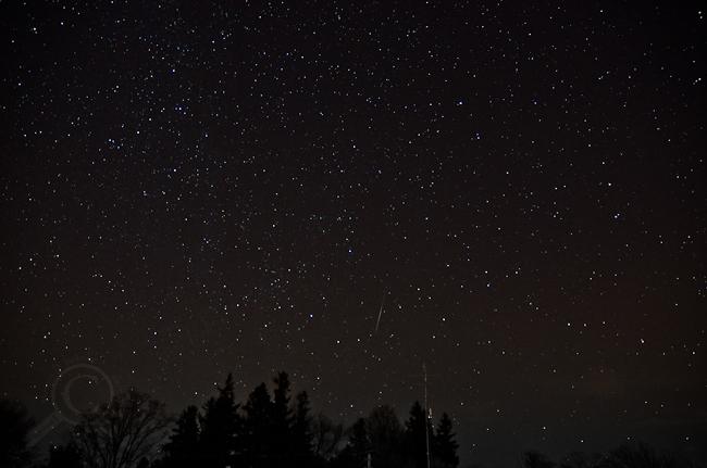 Geminid meteor - Facing North - Guelph Lake 2012