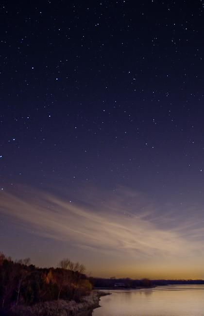 Stars over Guelph Lake - Geminids 2012