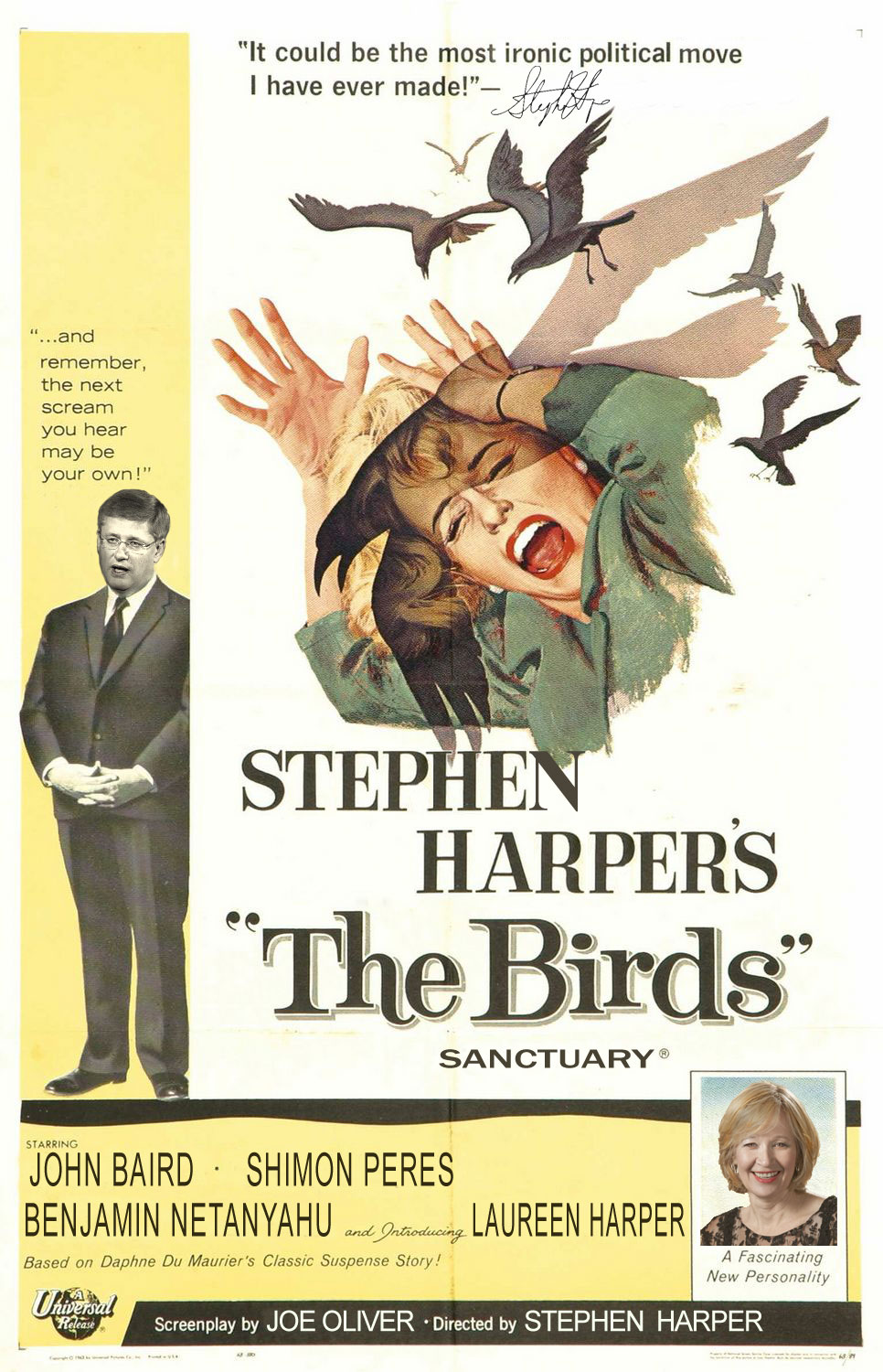 Stephen Harper's The Birds Sanctuary Poster