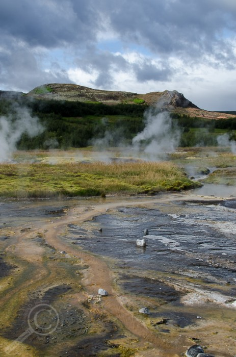 Geothermal features in the Geysir area