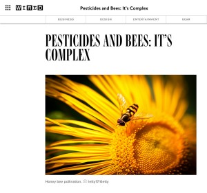 Perhaps Wired's editors were on to something here. If it looks like a bee, and carries pollen like a bee, then...